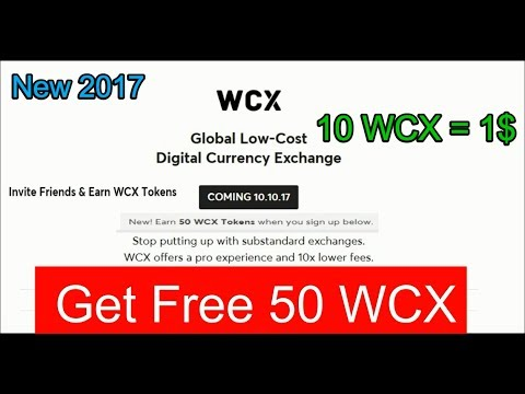 Get 5$ free/ Signup & Get Free 50 WCX Tokens/ Invite Friends